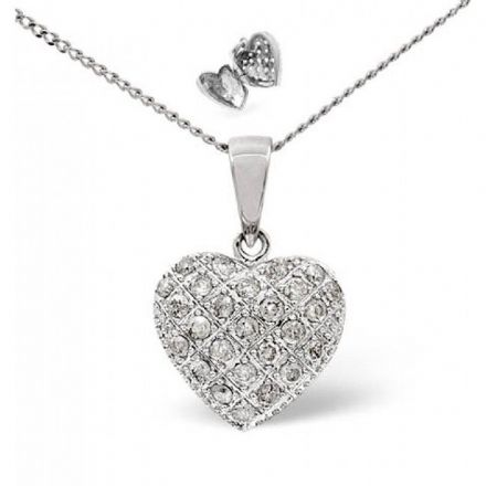 18K White Gold 0.50ct Diamond Pendant, P2394